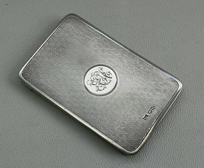 Vtg 1898 Victorian Walker & Hall Solid Silver Magic Flip Business Card Case