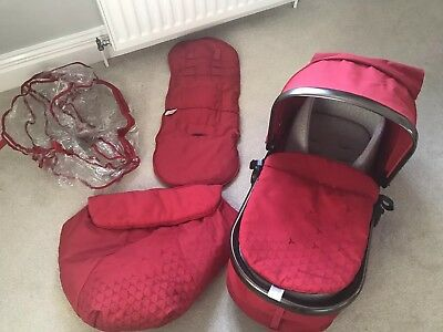 Mothercare Orb Carry Cot Seat Unit Foot Muff Rain Cover Seat Liner