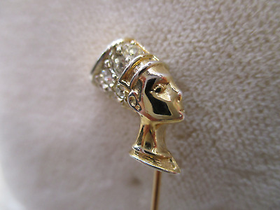D'orlan Egyptian Pharaoh Queen Nefertiti Rs Stick Pin Vtg Antique Estate Jewelry