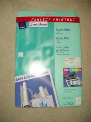 Zweckform Perfect Printout Inkjet-Folien - Art.-Nr. 2503