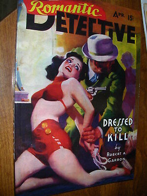 (  4  )  Pulp Magazines  /  Detective  Re- Prints  .  Classic  Art Covers