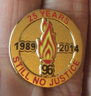 Liverpool 25 Years Still No Justice 1989-2014 Enamel Pin Badge