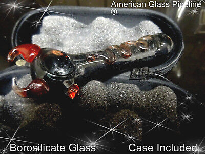 "Little Devil Hand Glass Smoking Tobacco Pipe. 5"" Hottie + Free Case & Shipping"