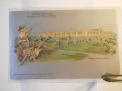 World's Fair1904 St. Louis Metallic Postcard- Mint- Unused - Palace Agricultural