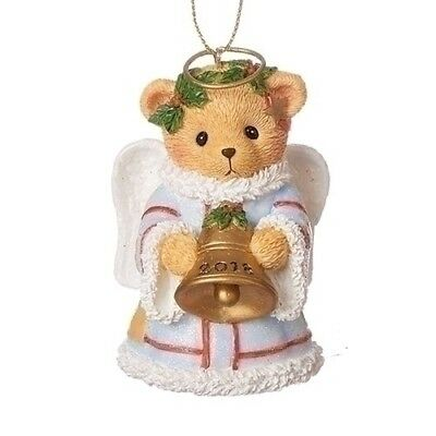 Cherished Teddies 2018 Dated Bell Christmas Ornament 132072