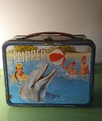 """1966 Metal Flipper Lunchbox """"No Thermos"""""""