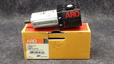 "Ingersol Rand Aro 1/4"" Npt Compact Compressed Air Filter 250 Psig P/n F35221-410"