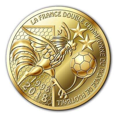 Monnaie De Paris 2018 -Dispo- La France Double Championne Du Monde De Football