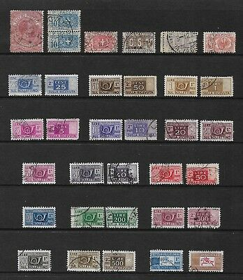 ITALY mixed Parcel Post collection, from 1884