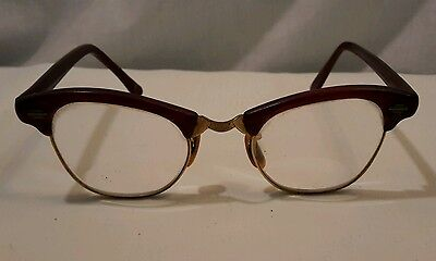 a6ba5e040470 VTG 50S 60S American Optical Aluminum Cat Eye Glasses Etched Vine 12 ...