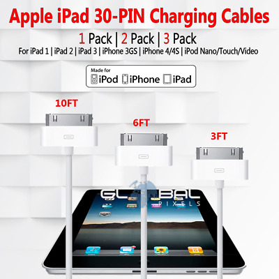 1/2/3 PACK Apple iPad/iPod/iPhone 30 Pin Charger Cable 3FT 6FT 10FT USB Lot US