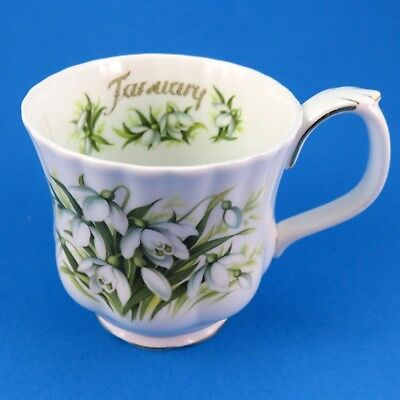 Royal Albert Flower of the Month January Snowdrops Mug