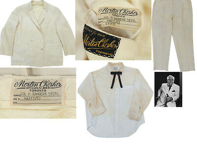 1967 Colonel Sanders Personally Worn Owned White Suit Kentucky Fried Chicken KFC
