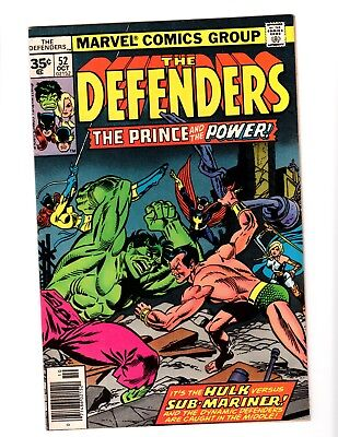 Rare 35 Cent Variant THE DEFENDERS 52 VERY GOOD/FINE bronze age Marvel