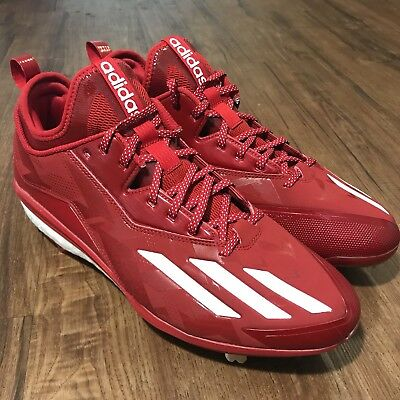 differently 8a3af 16bff NEW Mens Adidas Energy Boost Icon 2.0 Metal Baseball Cleats Sz. 13 Red  B72823