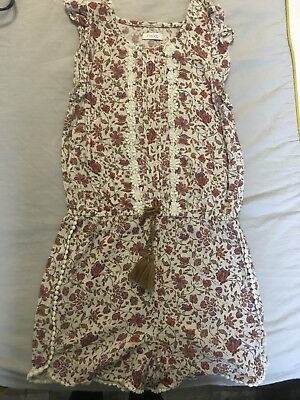 Next girls Ditsy Floral Playsuit Aged  7 Years