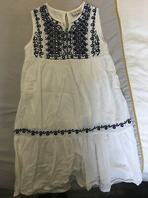 Next White Embroidered Sun Dress Age 6 Years