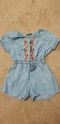 Girls Denim Playsuit, V By Very, Age 2-3 Years.