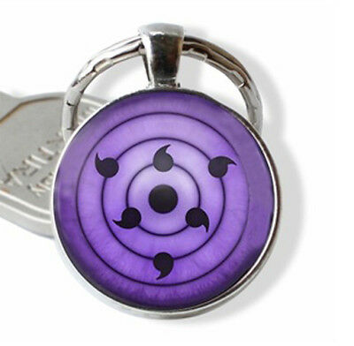 Rinnegan sharingan Sasuke Keychain Key Ring Fashion Accessories Naruto Anime