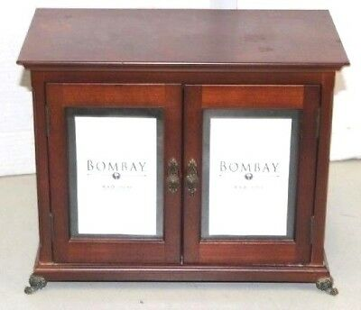 Bombay Company Cherry Wood Musical Ring Jewelry Box With Beveled