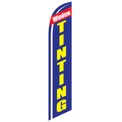 Window Tinting Advertising 12ft Feather Banner Swooper Flag - FLAG ONLY