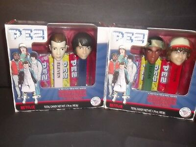 Stranger Things two (2) Pez Box Sets with 2 dispensers each