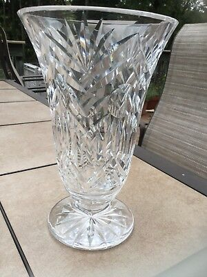 Waterford 10 Tall Balmoral Crystal Flower Vase Discontinued Lismore