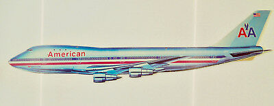 "Boeing 747 Luxury Liner American Airlines  47"" Cardboard Flat Cutout Model"