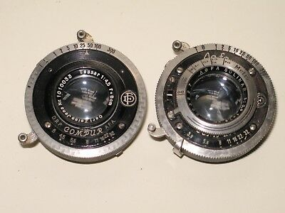 2 Vintage Antique Camera shutters. Agfa & Compur. Tessar & Solinar.