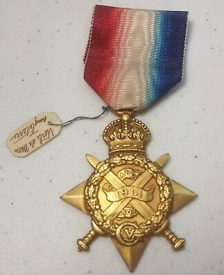 1914 MONS STAR British WW1 Campaign Medal Unassigned