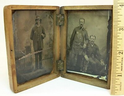 2 - 1/6th Plate - Rare Occupational 19th Century LAW ENFORCEMENT POLICE TINTYPES