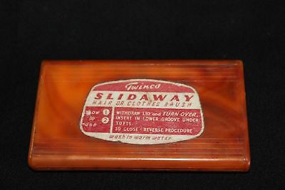VINTAGE 'TWINCO' SLIDAWAY brush compact