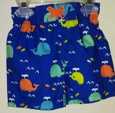 Swiggles 18 Month Blue Whale Infant Swim Suit Trunks Boys