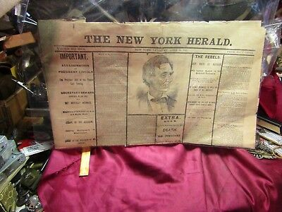 Original 1865 April Newspaper