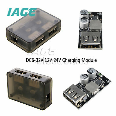 DC-DC Buck USB Aufladen Module 6-32V 12V 24V to QC3.0 Fast Charge