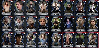 Topps Walking Dead Card Trader Blue Die Cut Set with ALL 3 Awards - Lot of 24