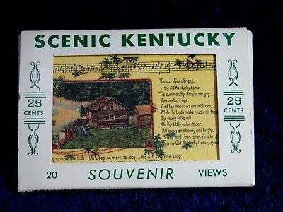 1940's Set Of Mini Postcards Of Scenic Kentucky  By Readmore Louisville,ky