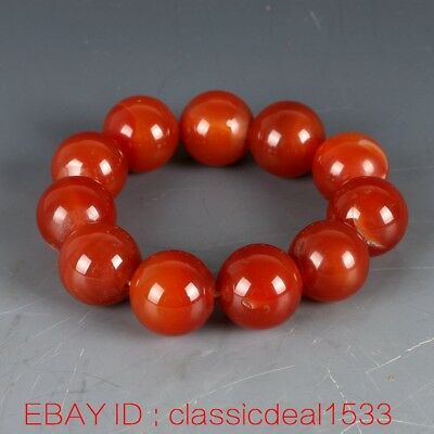 100% Natural Agate Hand-Work Bead Bracelet MY0137