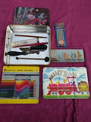 Vintage Paint Set (English), Vintage Pencil Set & Texta Set.