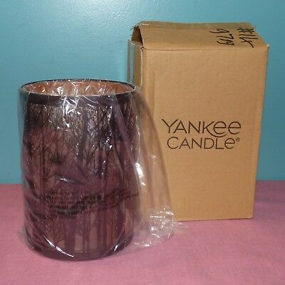Yankee Candle Twilight Silhouettes Forest Silho Jar Candle Holder - New