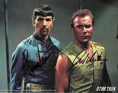 Star Trek William Shatner & Leonard Nimoy Spock Signed Photo Beckett BAS