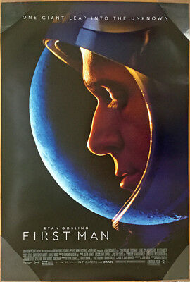 FIRST MAN MOVIE POSTER 2 Sided ORIGINAL FINAL 27x40 RYAN GOSLING CLAIRE FOY