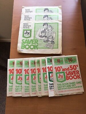 Vintage S&H Green Stamps Lot Of 11 Full Books Sperry And Hutchinson Co.