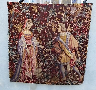 A Late 19th Century Wool & Silk Medieval Style Tapestry