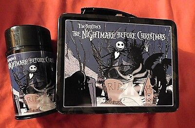 Tim Burton's Nightmare Before Christmas Metal Lunch Box with Thermos