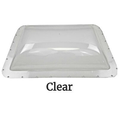 RV Exterior Skylight Dome 26 x 18in OD Roof Flange Vent Trailer Motorhome Clear