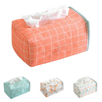 KD_ Cloth Tissue Paper Box Napkin Storage Case Holder Home Auto Car Vehicle Re