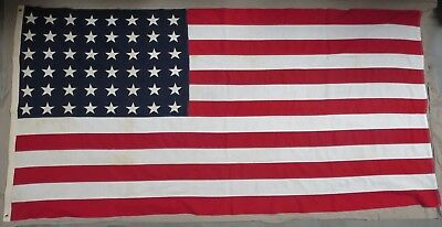 Clean Original WW2 Vintage AMERICAN US 48 STAR COFFIN FLAG 5 x 9 1/2 ANNIN & CO.