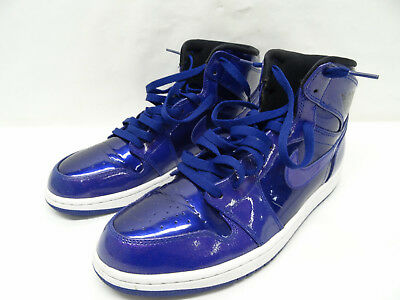 NIKE AIR JORDAN 1 Retro High Deep Royal Patent (332550 420) Sz 10.5 ... b617f6aa1