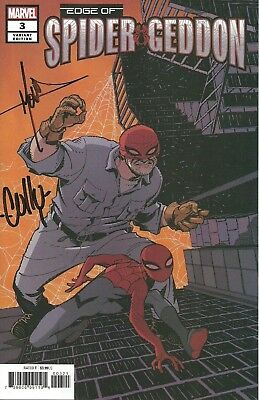 Edge of Spider-Geddon #3A + 3B Variant 2018 NM Signed by Molina + Cully Hammer
